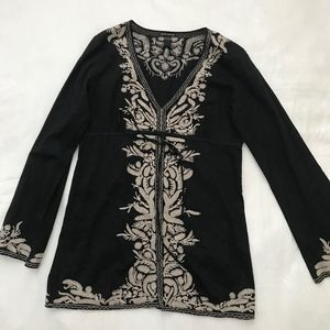 Lucky Brand Embroidered Tunic Shirt